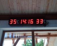 Berekfürdő 3db Vízhőmérő/Pontosidő Kijelző